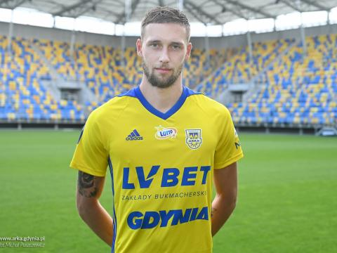 Mateusz Żebrowski piłkarzem Arki